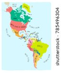 hand drawn vector map of the... | Shutterstock .eps vector #785496304