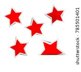 red star paper stickers with...   Shutterstock .eps vector #785501401