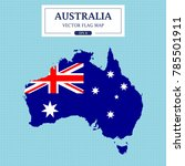 australia flag map vector... | Shutterstock .eps vector #785501911