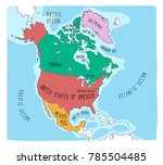 hand drawn vector map of north... | Shutterstock .eps vector #785504485