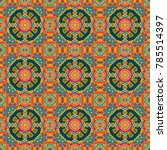 ethnic mandala seamless pattern ... | Shutterstock . vector #785514397