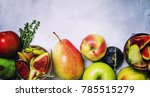 fruit cocktail with wine  pears ... | Shutterstock . vector #785515279