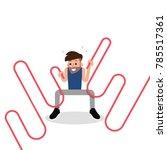 battle rope fitness. | Shutterstock .eps vector #785517361
