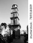 the historic clock tower in the ...   Shutterstock . vector #785518309