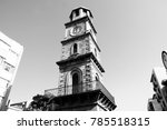 the historic clock tower in the ...   Shutterstock . vector #785518315