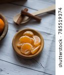 ripe mandarine citrus .  | Shutterstock . vector #785519374