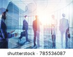 business people on abstract... | Shutterstock . vector #785536087