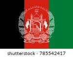 afghanistan flag standard size... | Shutterstock .eps vector #785542417