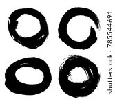 hand drawn scribble symbols... | Shutterstock .eps vector #785544691