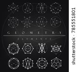 sacred geometry signs set of... | Shutterstock .eps vector #785551801