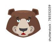 bear happy emoji. grizzly merry ... | Shutterstock . vector #785552059