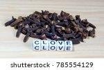clove block letters in...   Shutterstock . vector #785554129