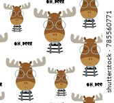 childish seamless pattern with... | Shutterstock .eps vector #785560771