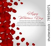 happy valentines day card with... | Shutterstock .eps vector #785564371