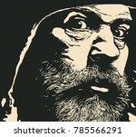 old bearded man. vector... | Shutterstock .eps vector #785566291