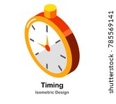 stopwatch isometric illustration | Shutterstock .eps vector #785569141