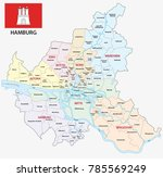 hamburg administrative and... | Shutterstock .eps vector #785569249