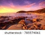 Sunset Cala Violina Bay Beach...