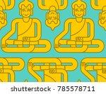 buddha golden statue pattern.... | Shutterstock . vector #785578711