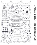 a set of vector elements for st.... | Shutterstock .eps vector #785579074