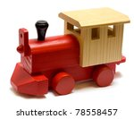 old vintage wooden toy train on ...