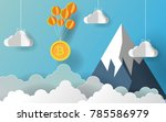 bitcoin sign hanging with... | Shutterstock .eps vector #785586979