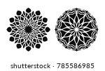 set of two vector mandalas.... | Shutterstock .eps vector #785586985