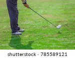 the man are warming  golfing... | Shutterstock . vector #785589121