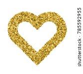 golden heart isolated on white... | Shutterstock .eps vector #785592955