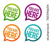 you are here round buttons.... | Shutterstock .eps vector #785596654