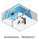 isometric interior composition... | Shutterstock . vector #785602417