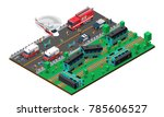 train wreck isometric design... | Shutterstock . vector #785606527