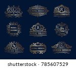 luxury labels design set with... | Shutterstock . vector #785607529