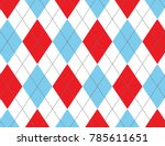 red and blue argyle background | Shutterstock .eps vector #785611651