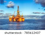 hdr of offshore drilling rig at ... | Shutterstock . vector #785612437