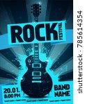 vector illustration blue rock... | Shutterstock .eps vector #785614354