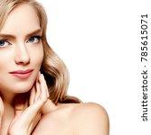 blonde hair model woman.... | Shutterstock . vector #785615071