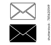 Envelope Icons. Black And Whit...