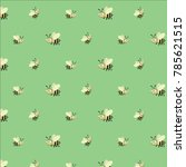 honey bee vector pattern with a ... | Shutterstock .eps vector #785621515