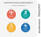 corporate social responsibility ... | Shutterstock .eps vector #785622937
