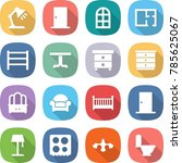 flat vector icon set   table... | Shutterstock .eps vector #785625067