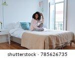 happy beautiful young black...   Shutterstock . vector #785626735