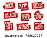 sale stickers collection  ... | Shutterstock .eps vector #785627257