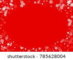 falling white christmas snow on ... | Shutterstock .eps vector #785628004