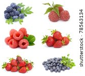 collection of fresh fruits | Shutterstock . vector #78563134