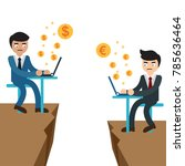 two leading businessmen working ... | Shutterstock .eps vector #785636464