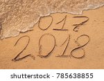 new year 2018 is coming concept ... | Shutterstock . vector #785638855