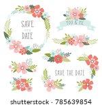 wedding flowers vector... | Shutterstock .eps vector #785639854