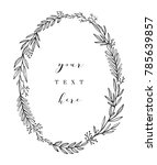 hand drawn wreath. vector... | Shutterstock .eps vector #785639857