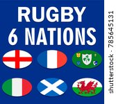 six nations championship card... | Shutterstock .eps vector #785645131